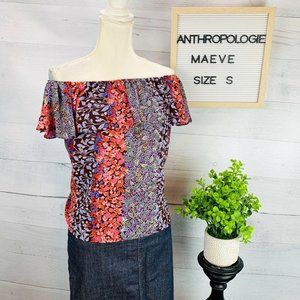 Anthropologie | Maeve Off The Shoulder Blouse sz S
